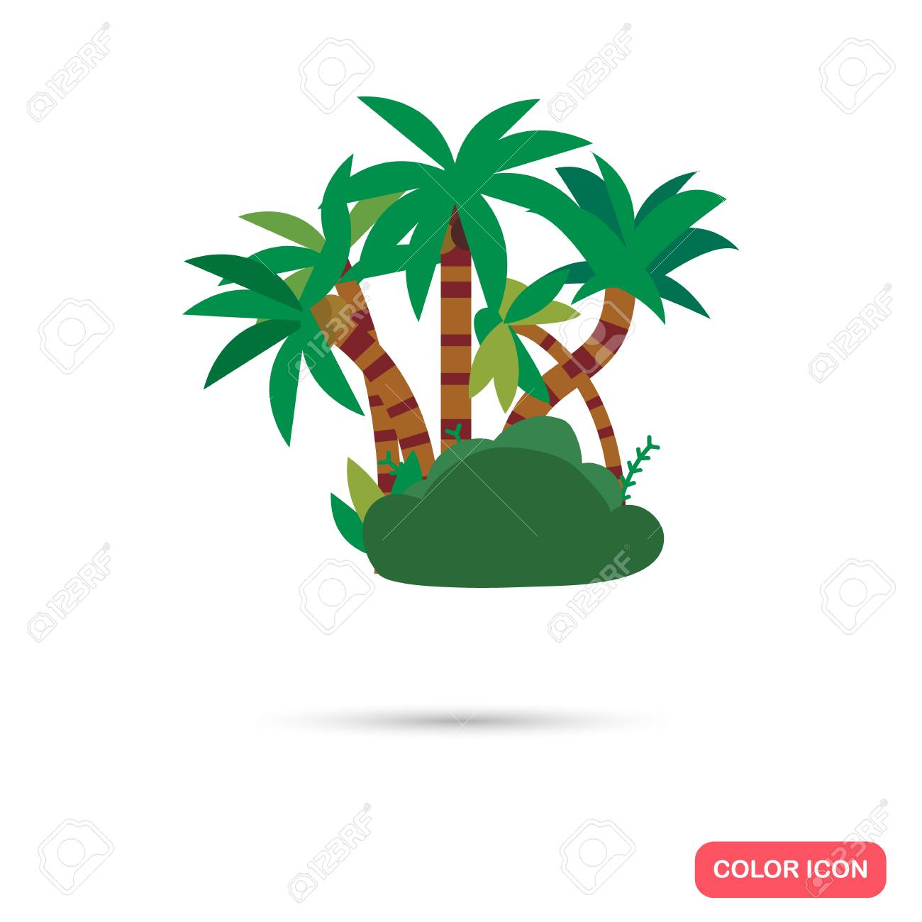 jungle color flat icon royalty free cliparts vectors and stock rh 123rf com vector jungle background vector jungle free