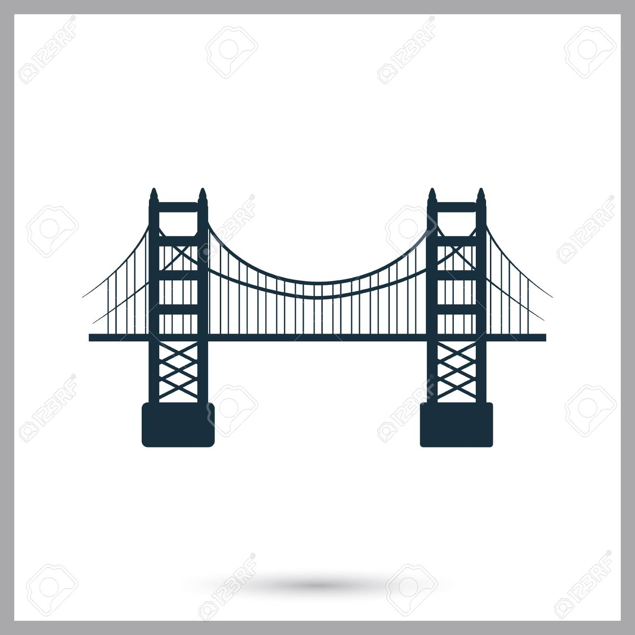 Golden Gate Bridge Symbol Einfacher Design Fr Netz Und Mobile And Standard Bild 66490979