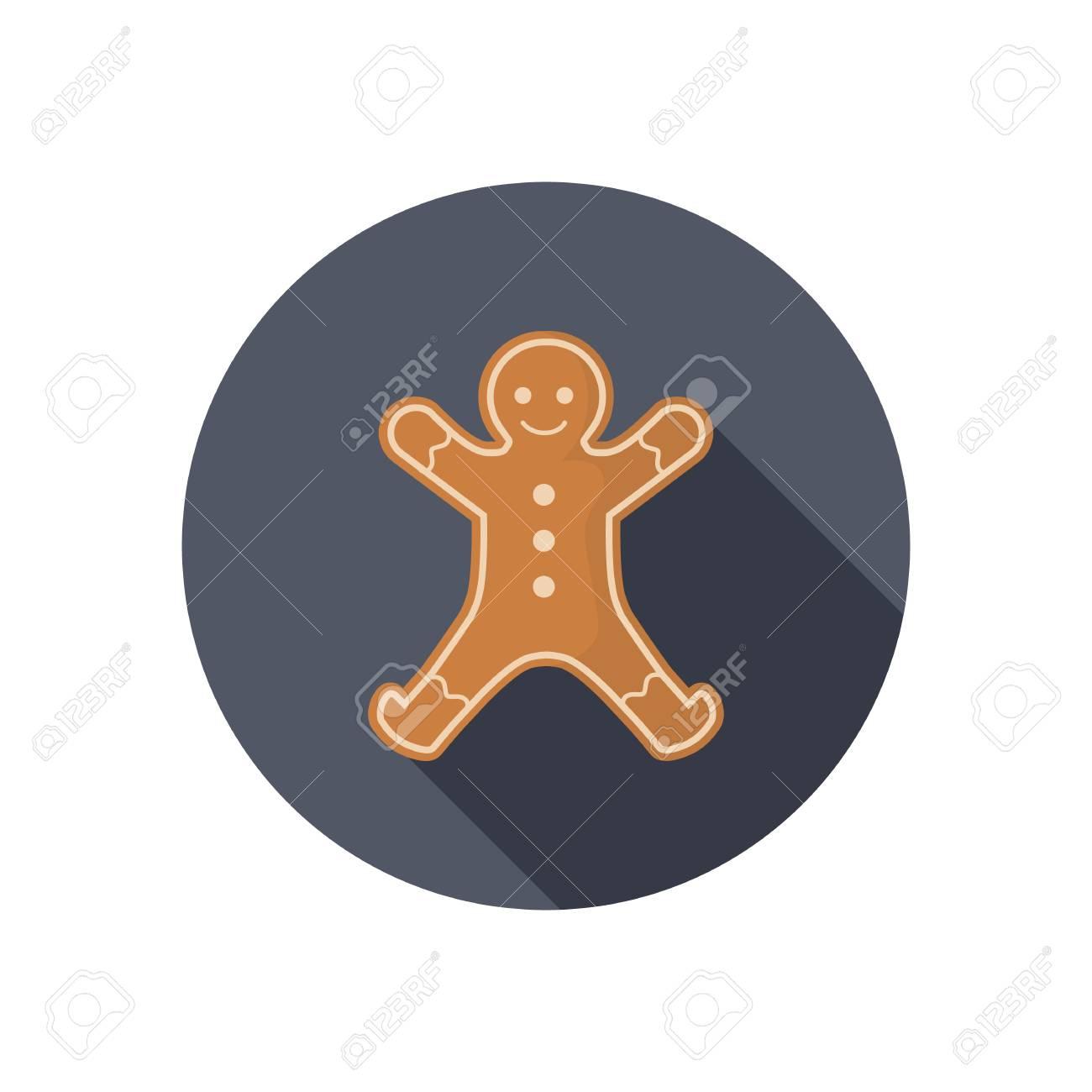 Icono De Color De Navidad Jengibre Hombre. Diseño Plano Para Web Y ...