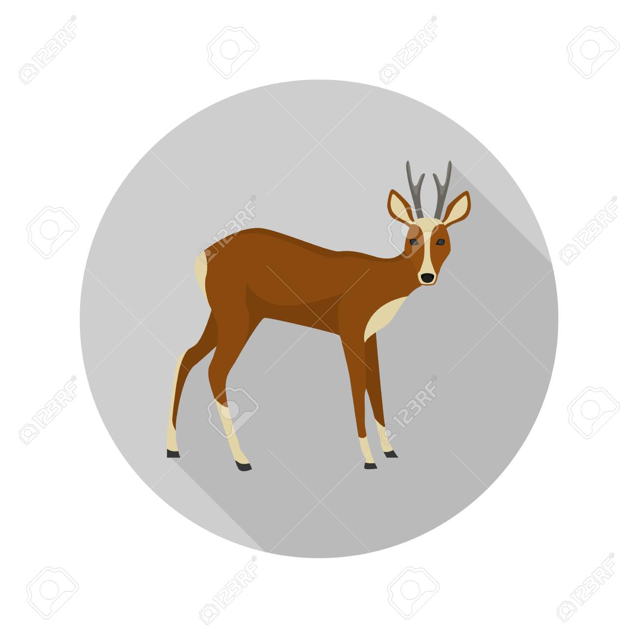 Antelope Color Flat Icon For Web And Mobile Design Royalty Free Roan  Antelope Antelope Color By Number