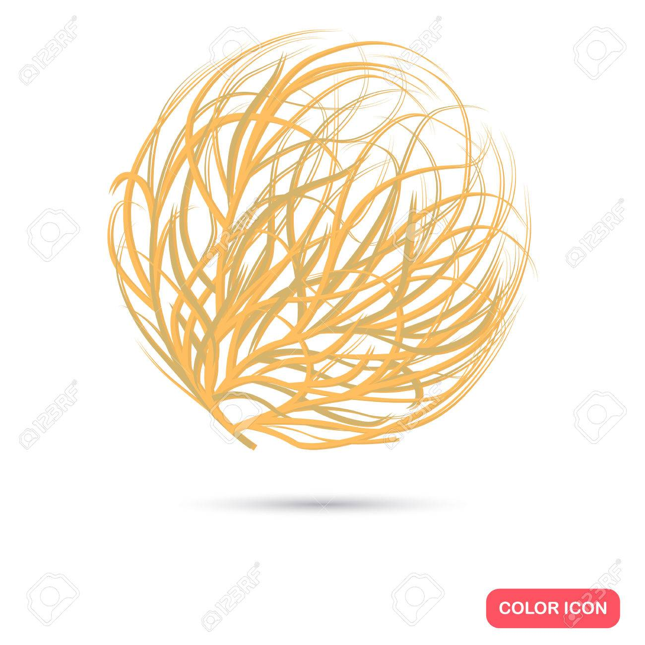 tumbleweed color flat icon for web and mobile design royalty free rh 123rf com Tumbleweeds Cartoon Characters Rolling Tumbleweed