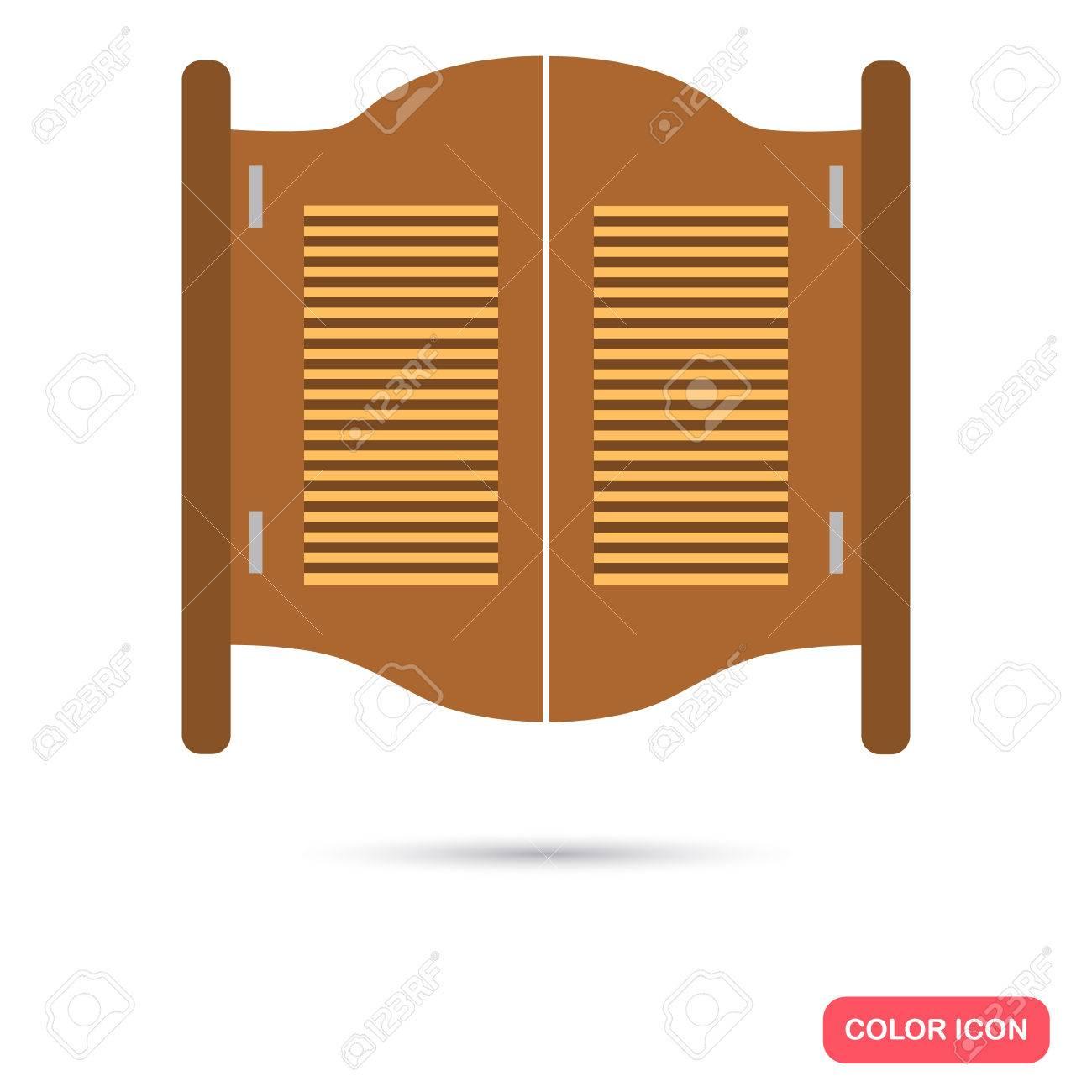texas salloon tür farbe flach symbol für das web und mobiles design