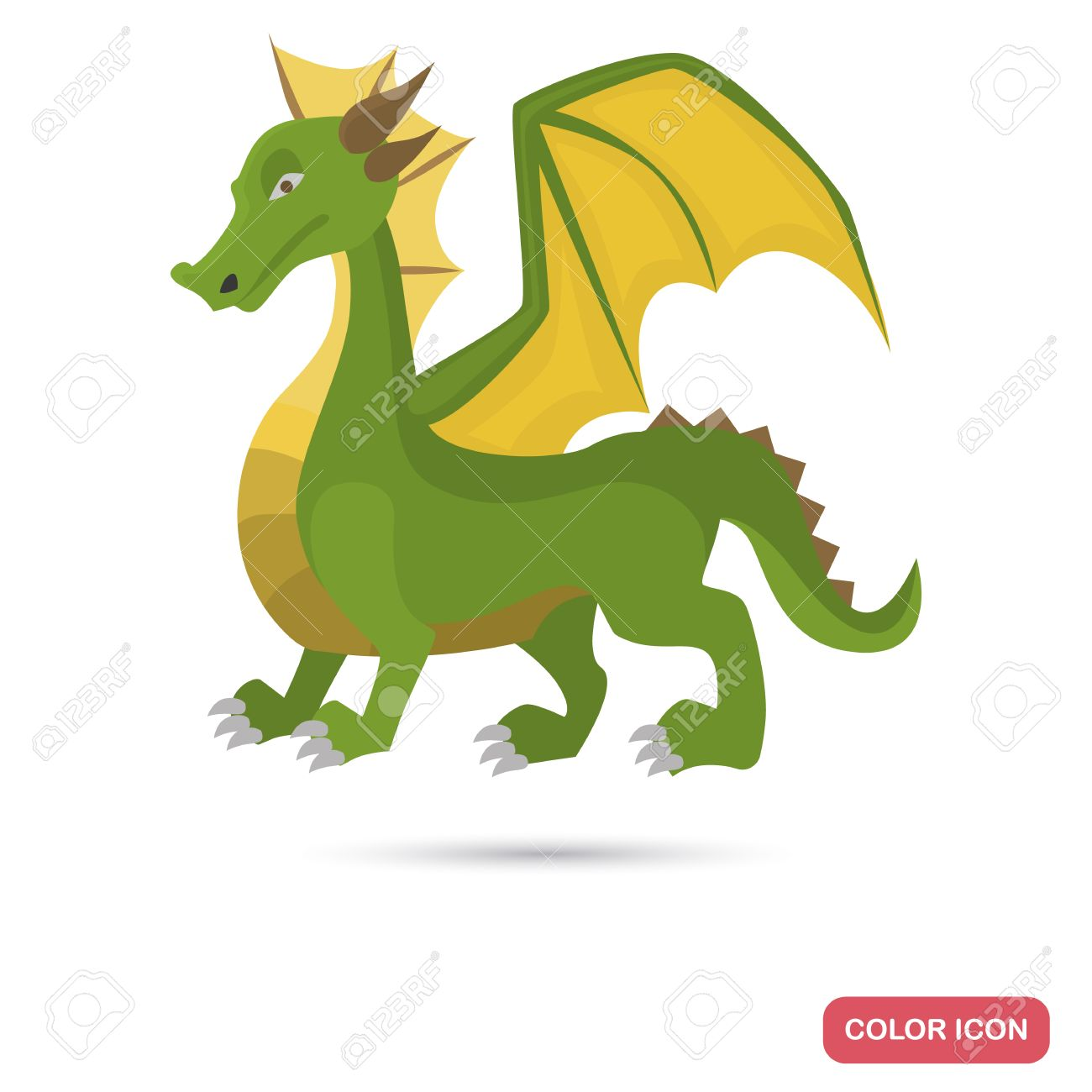 Ancient Legend Dragon Color Flat Icon For Web And Mobile Design ...