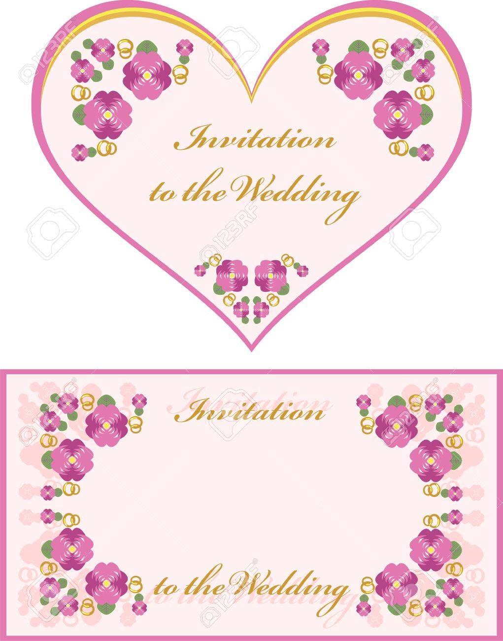 invitation to the wedding Stock Vector - 7353290