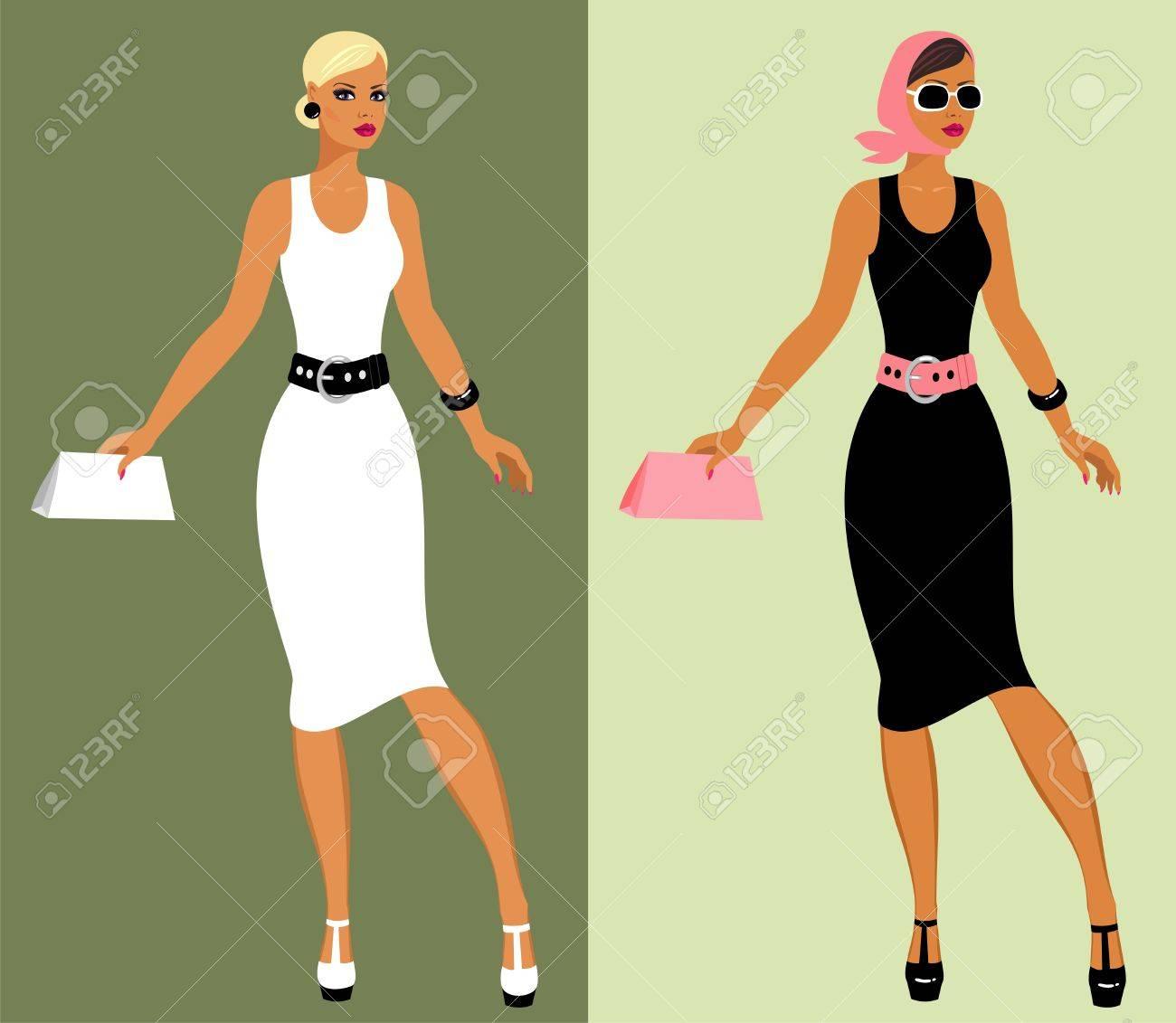 Fashion 80's of last century. Stock Vector - 8986017