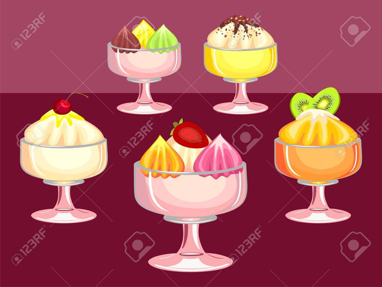 berry desserts Stock Vector - 8986019