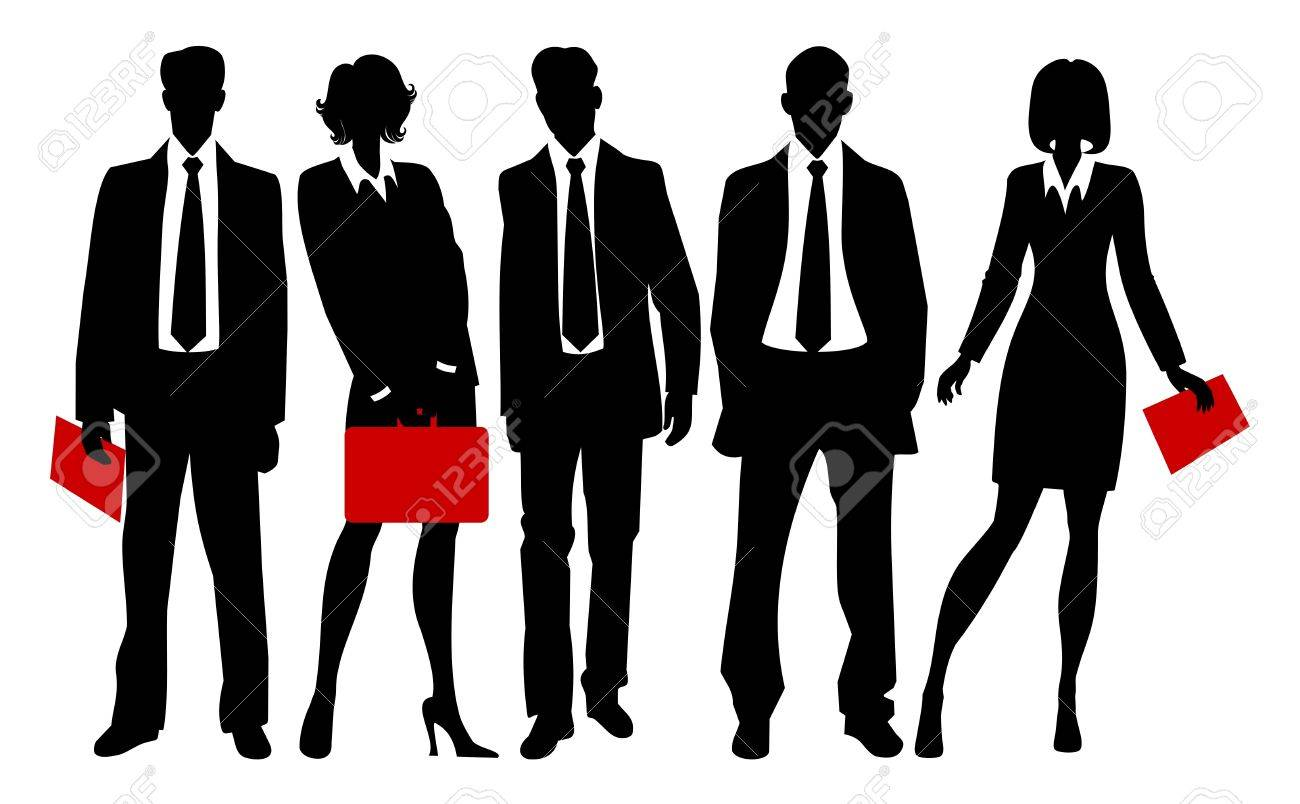 silhouettes of business people Stock Vector - 9722319