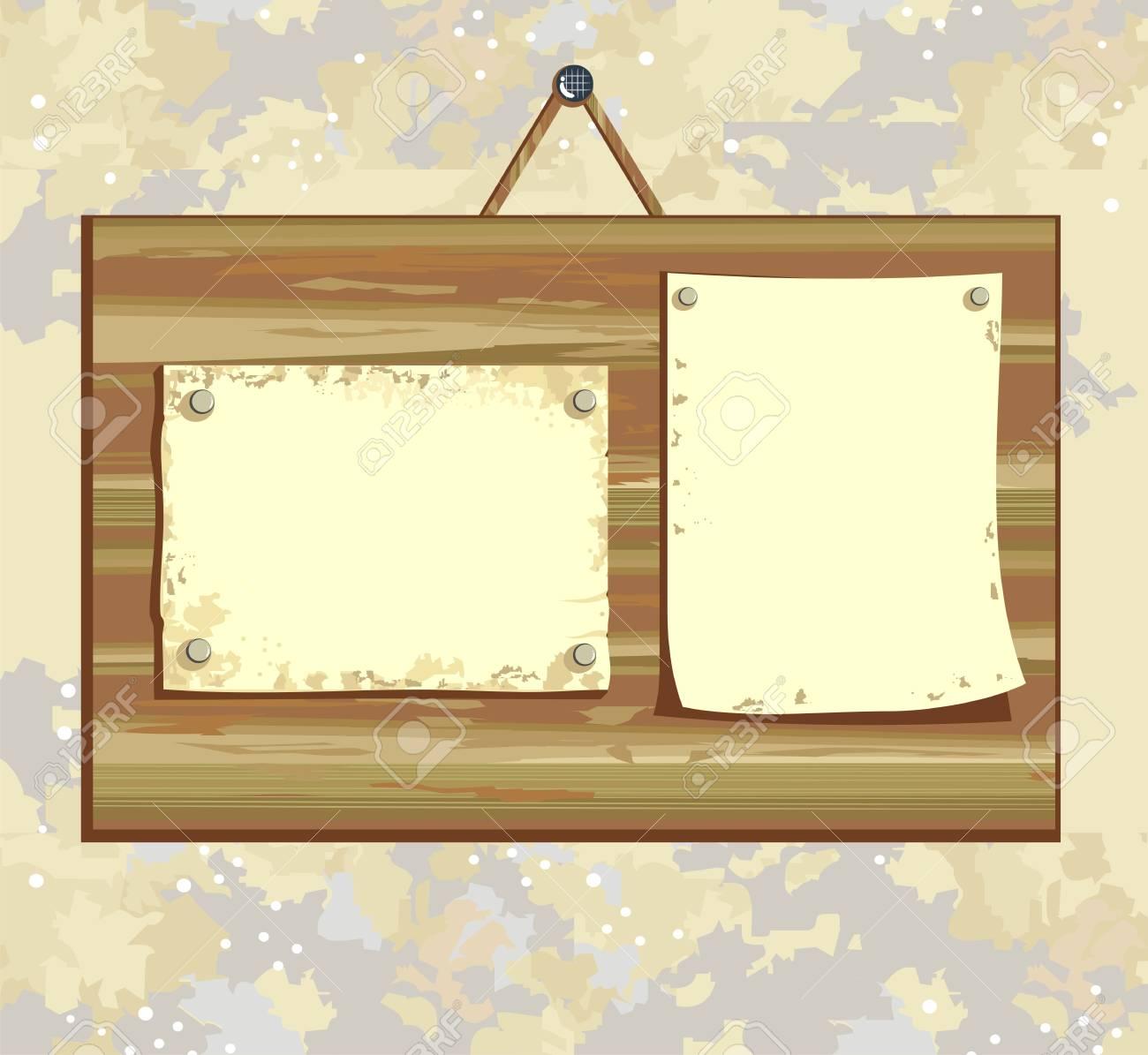 wooden sign Stock Vector - 21433778