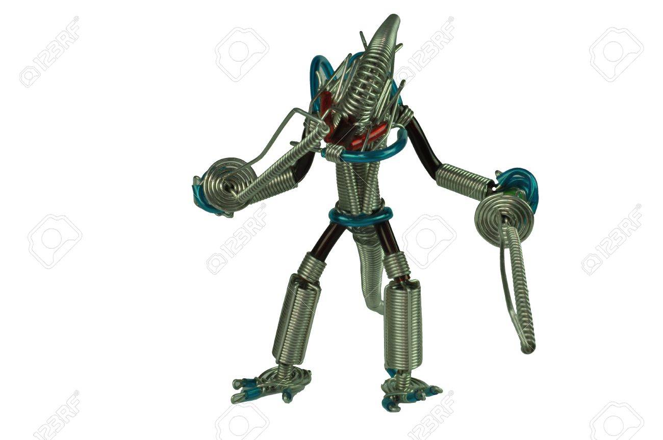 Iron Wire Robot Alien Stock Photo, Picture And Royalty Free Image ...