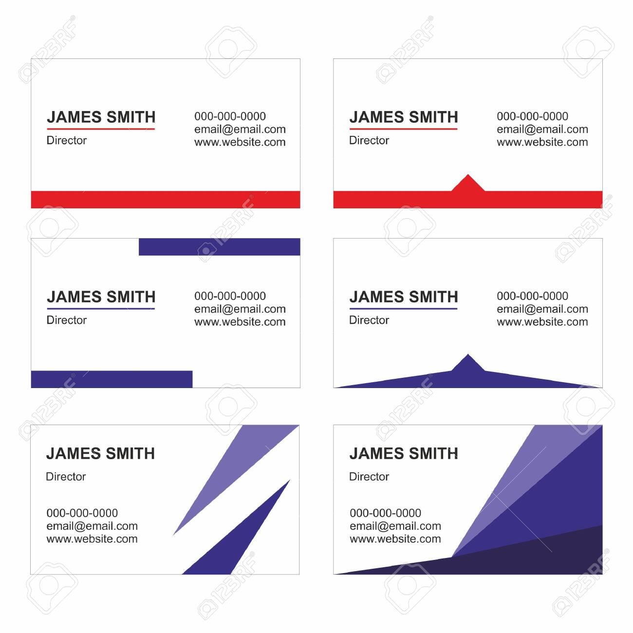 Business Card Templates set vector - Printable - 130415686