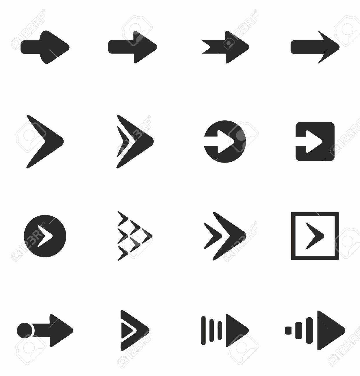 Arrow icon set isolated on white background vector illustration - 153478106