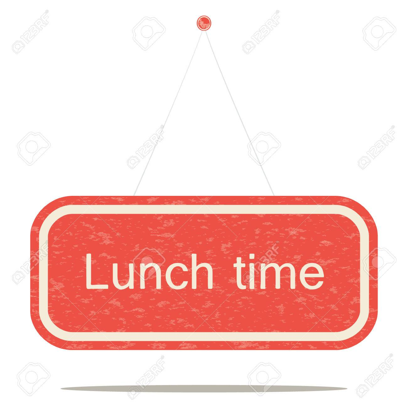 Lunch Time A Shabby Sign Board Stock Vector