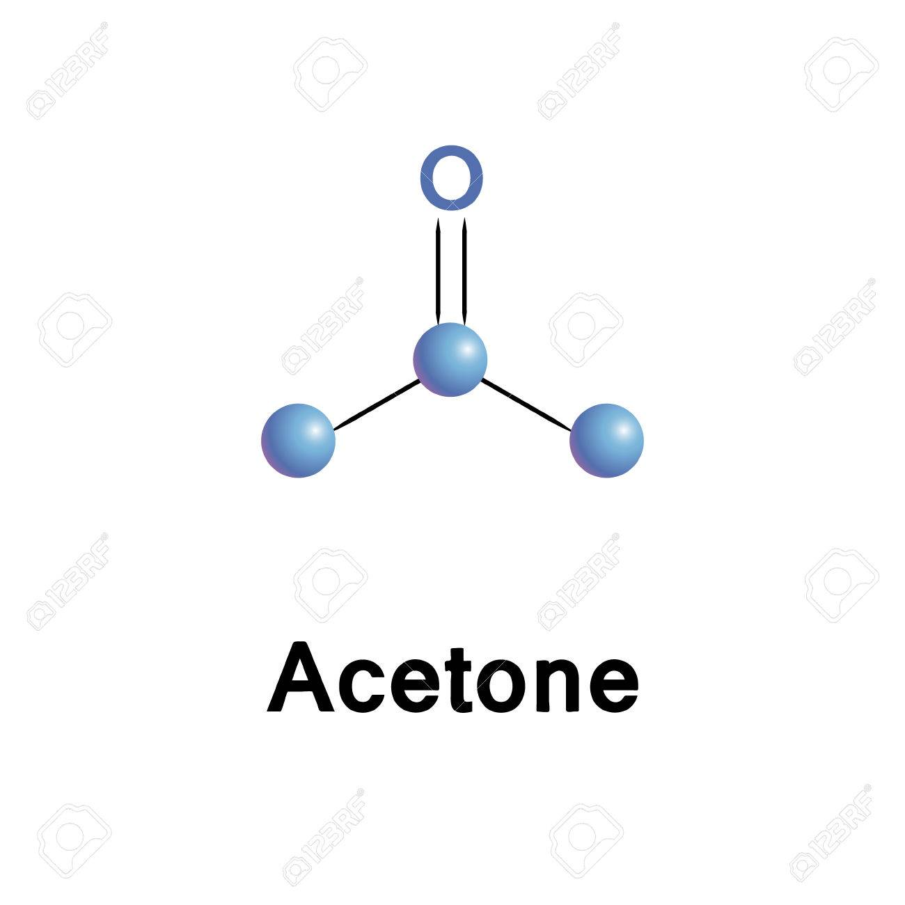 Acetone Chemical Formula, Molecule Structure, Medical Vector ...