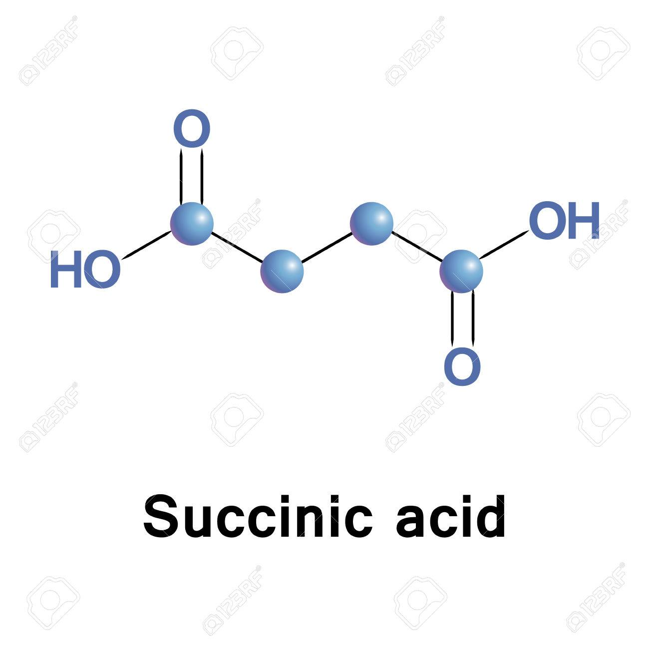 Succinic Acid Is A Dicarboxylic Acid It Takes The Form Of An