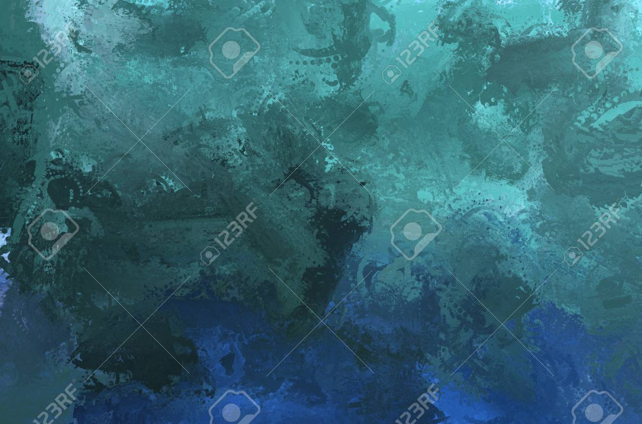 Abstract Painting Color Texture Colorful Canvas Dark Blue