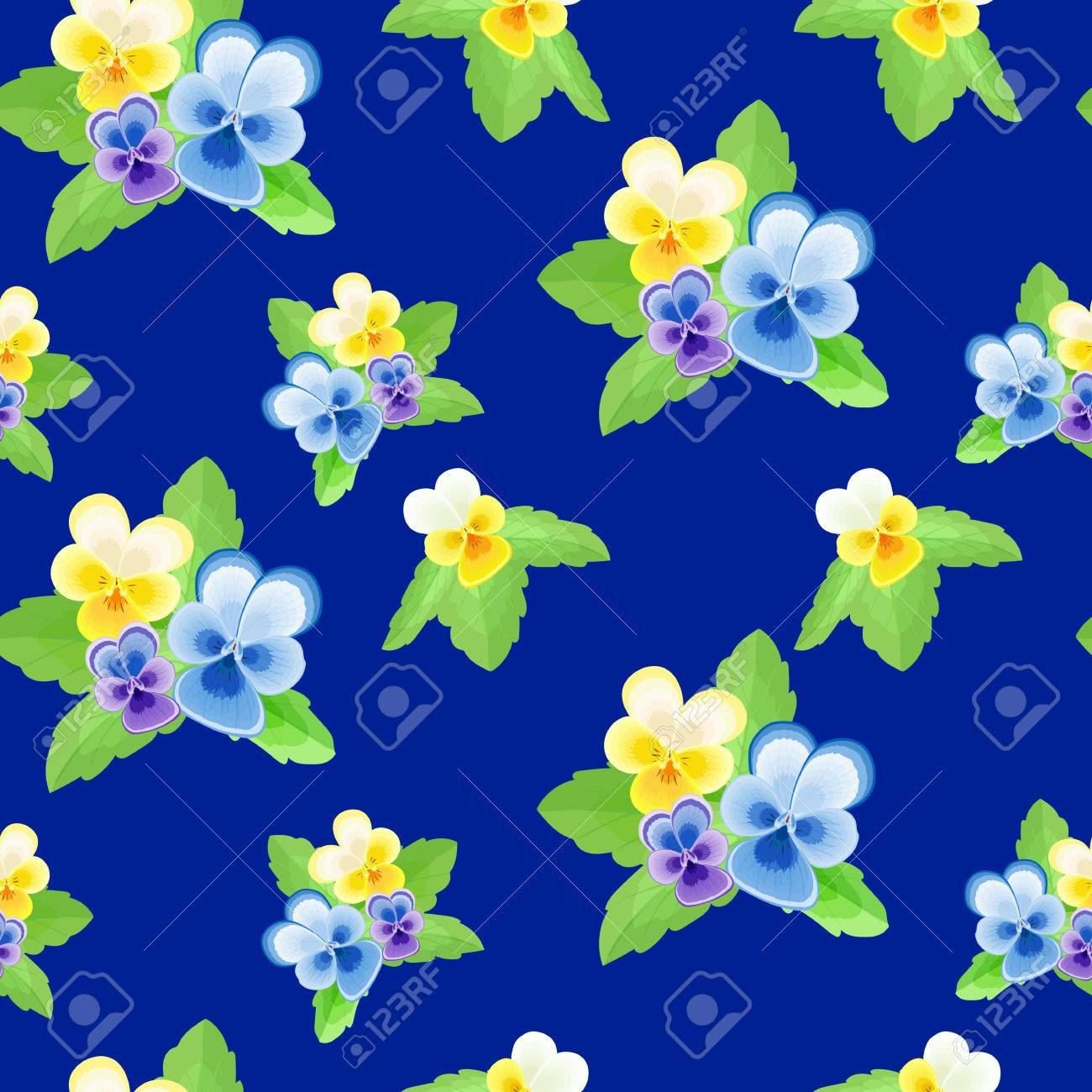 ec9c7fb79 Cute floral illustration.Summer seamless pattern with delicate yellow-white  flowers on a dark