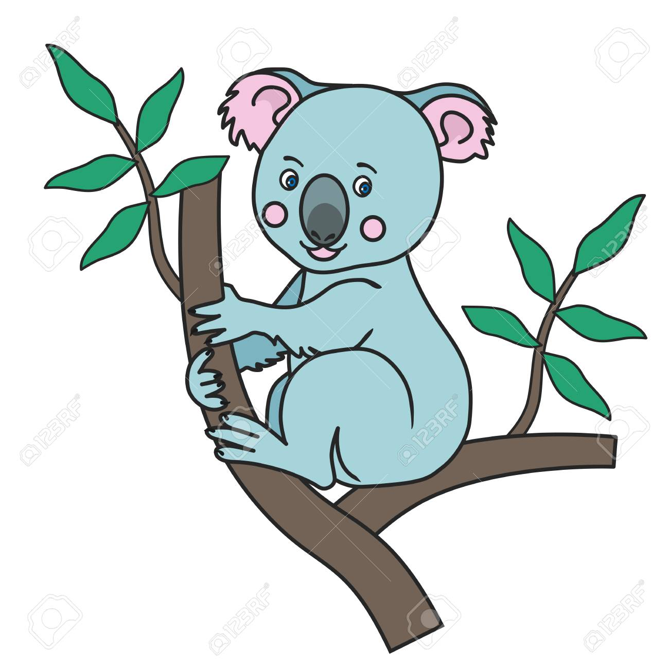 Cute Koala Print Royalty Free Cliparts Vectors And Stock