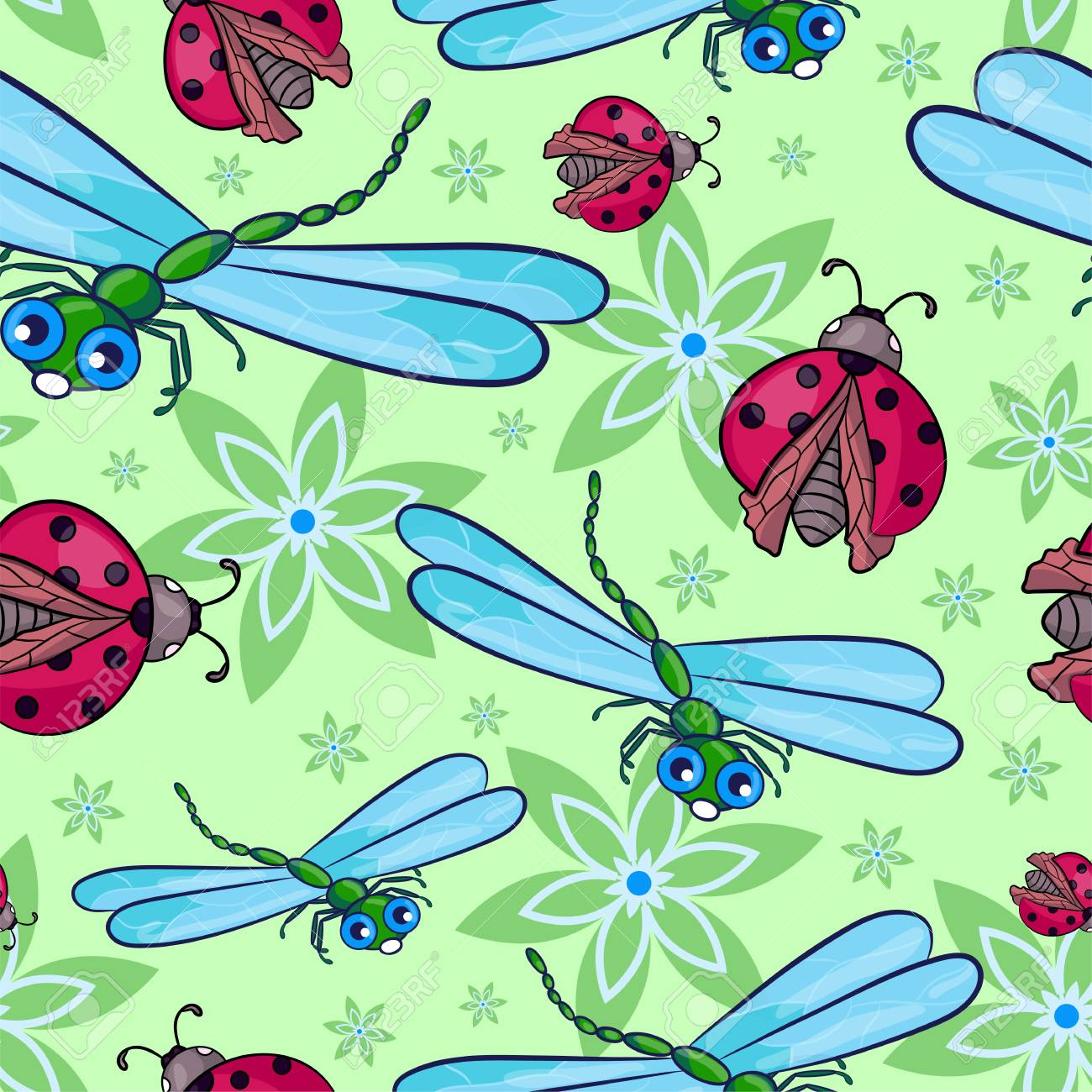 Dragonflies and Ladybugs