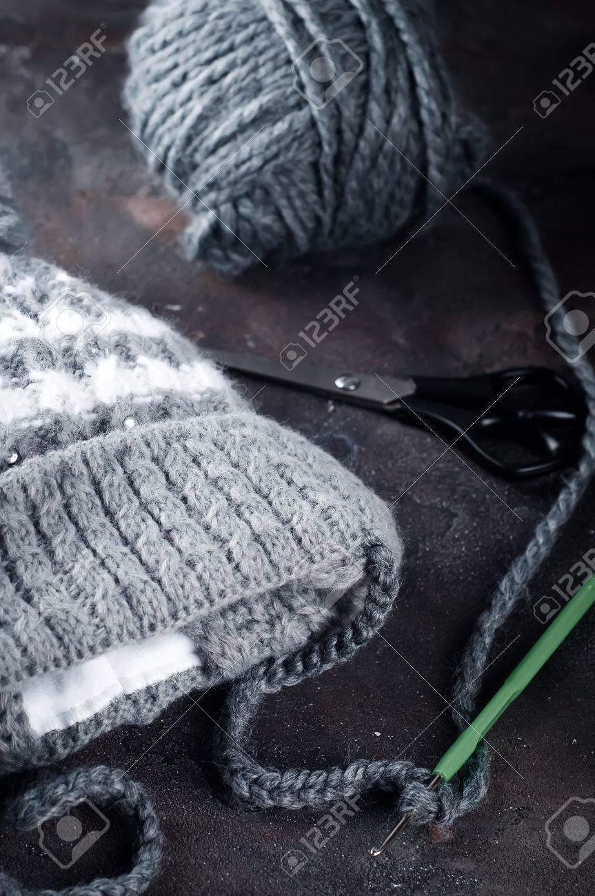 Casquillo Del Bebé De Punto. Gancho De Crochet. únicas Cosas ...