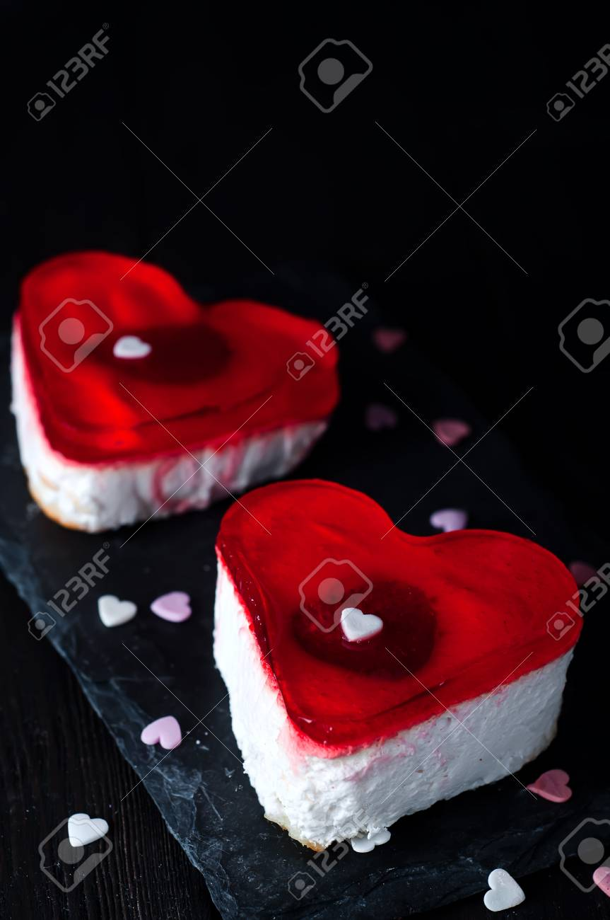 Birthday Cake For Valentines Day Stock Photo Picture And Royalty