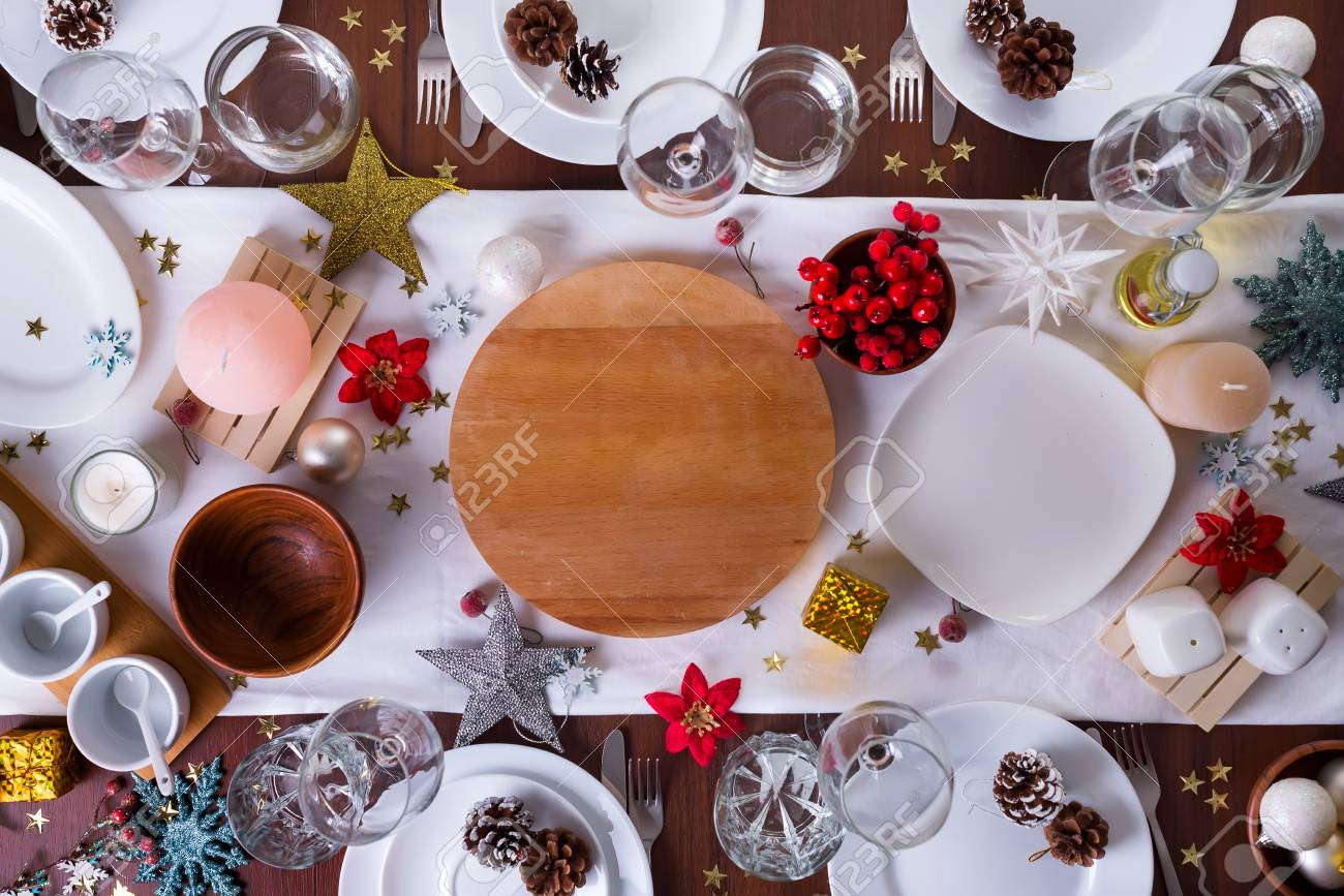Christmas Platter Plates.Tableware And Decorations For Serving A Festive Christmas Table