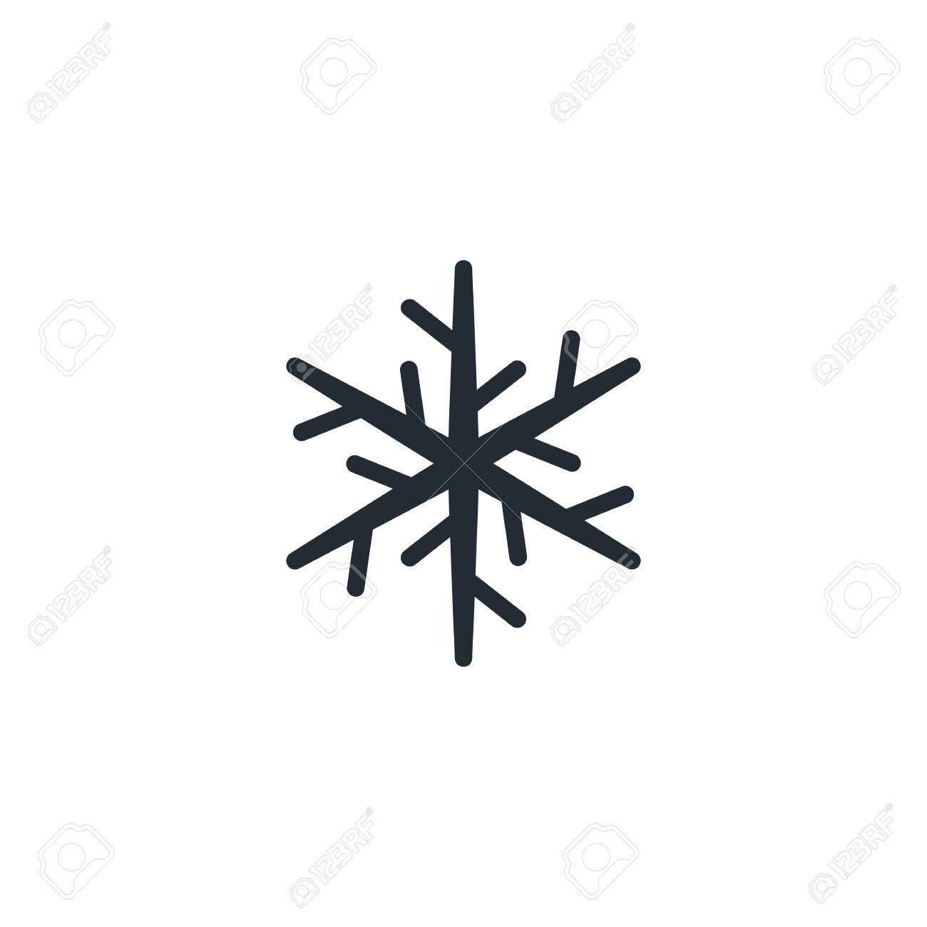 89326341 Six Pointed Star 6 Point Snowflake Flat Icon Snow Pictogram Winter Symbol Vector Illustration I