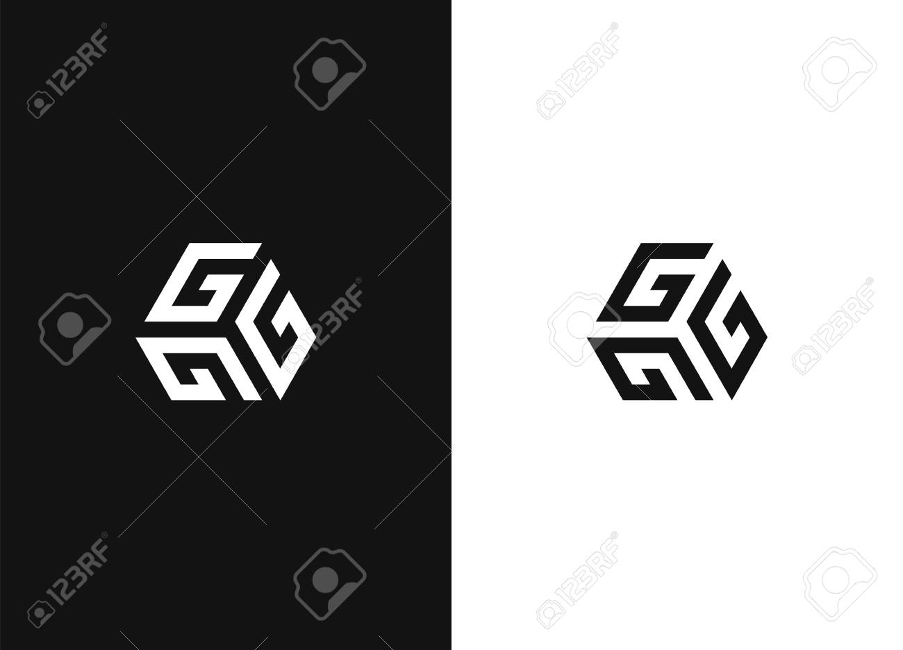 Stylish vector monochrome sign for your design - 109915555