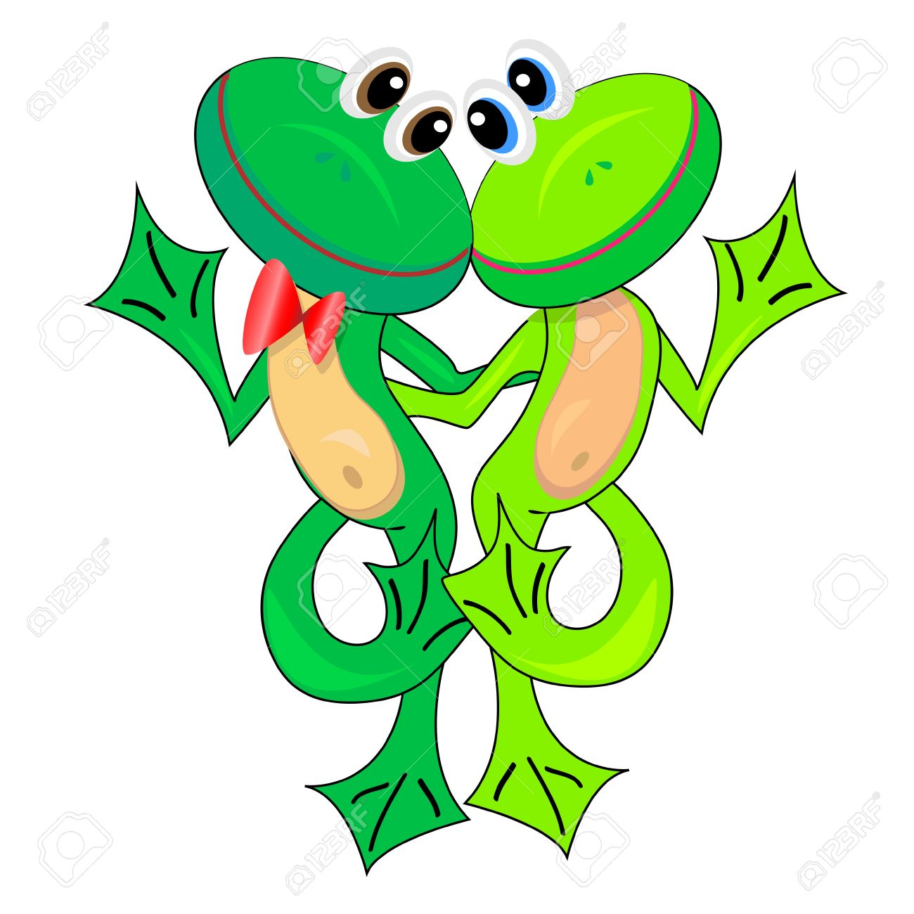 Background image none - Vector Couple Of Cute Frogs In Love Vector Illustration Isolated Character None Background