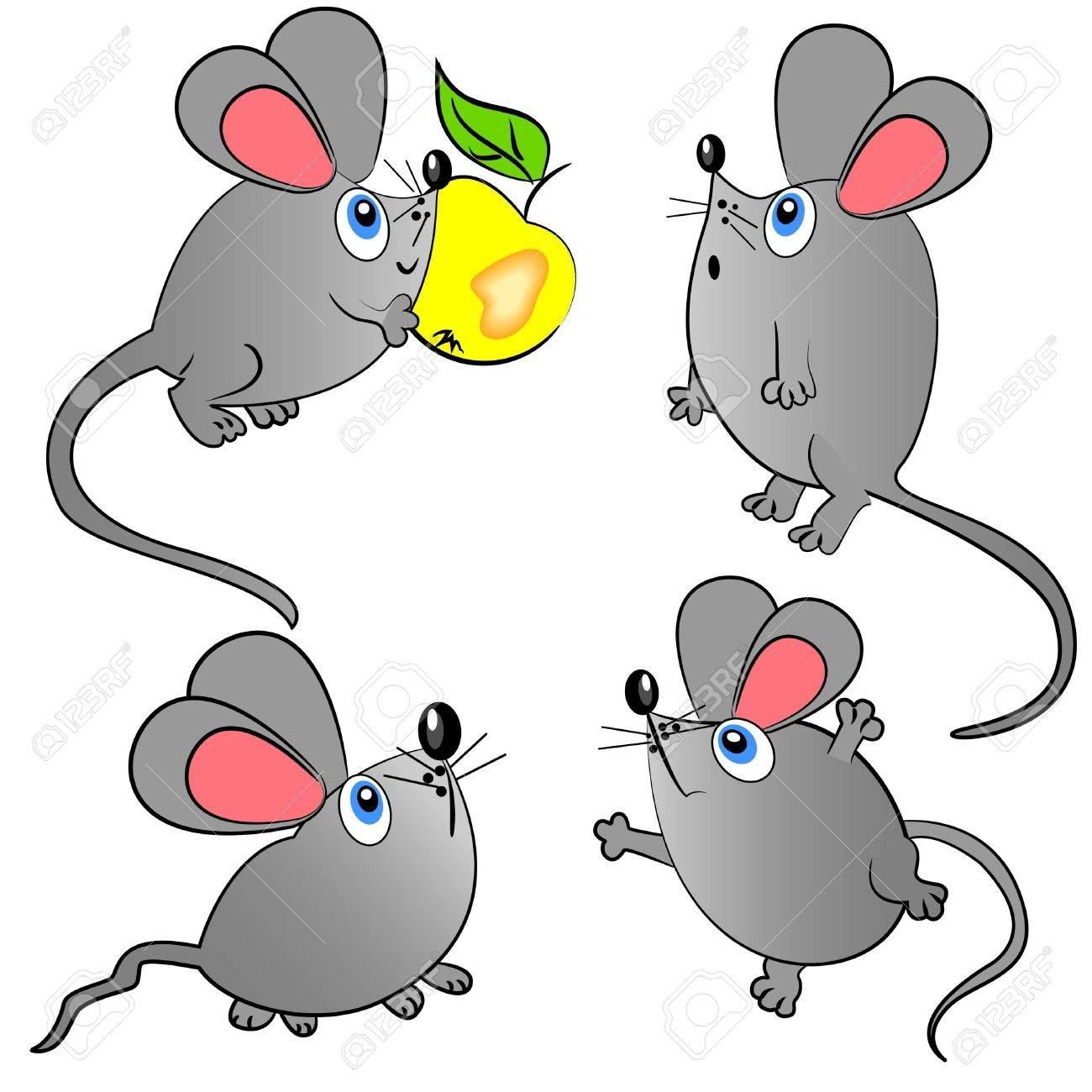 mouse vector set. isolated animals illustration Stock Vector - 11411174