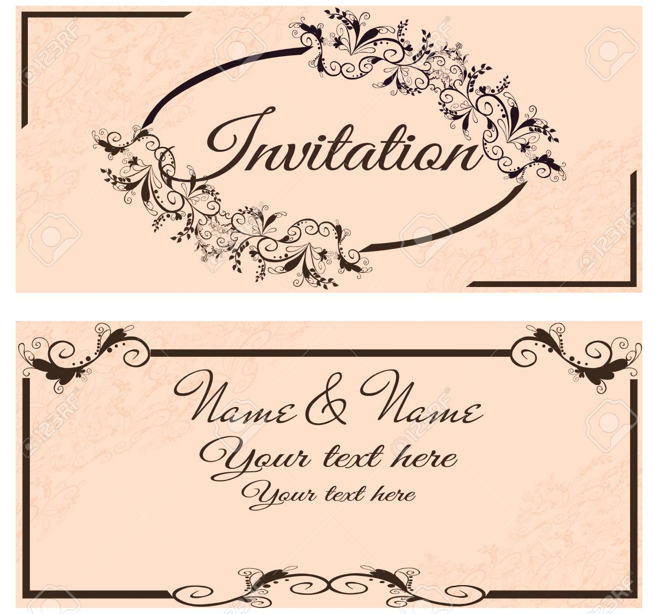 vector illustration vintage invitation card for wedding isolated royalty free cliparts vectors and stock illustration image 38283827 123rf com