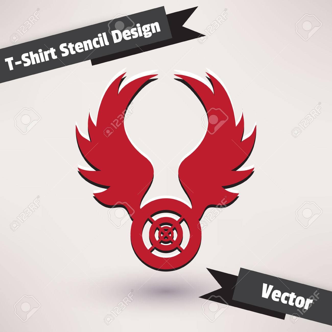 Shirt design illustrator template - T Shirt Stencil Design Vector Illustration Template For Your Design Stock Vector