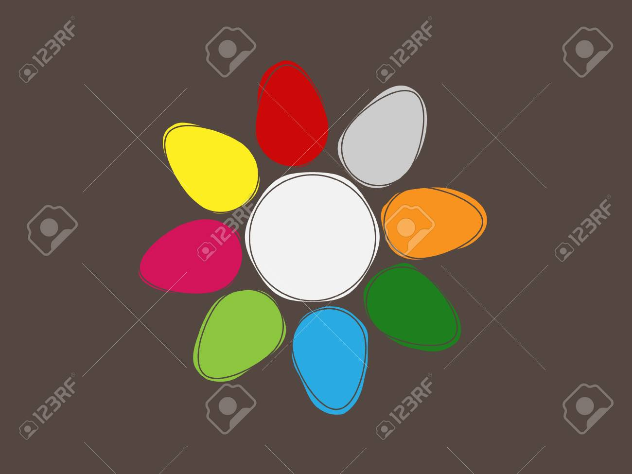 Easter card - flower from colored eggs Stock Vector - 18298645