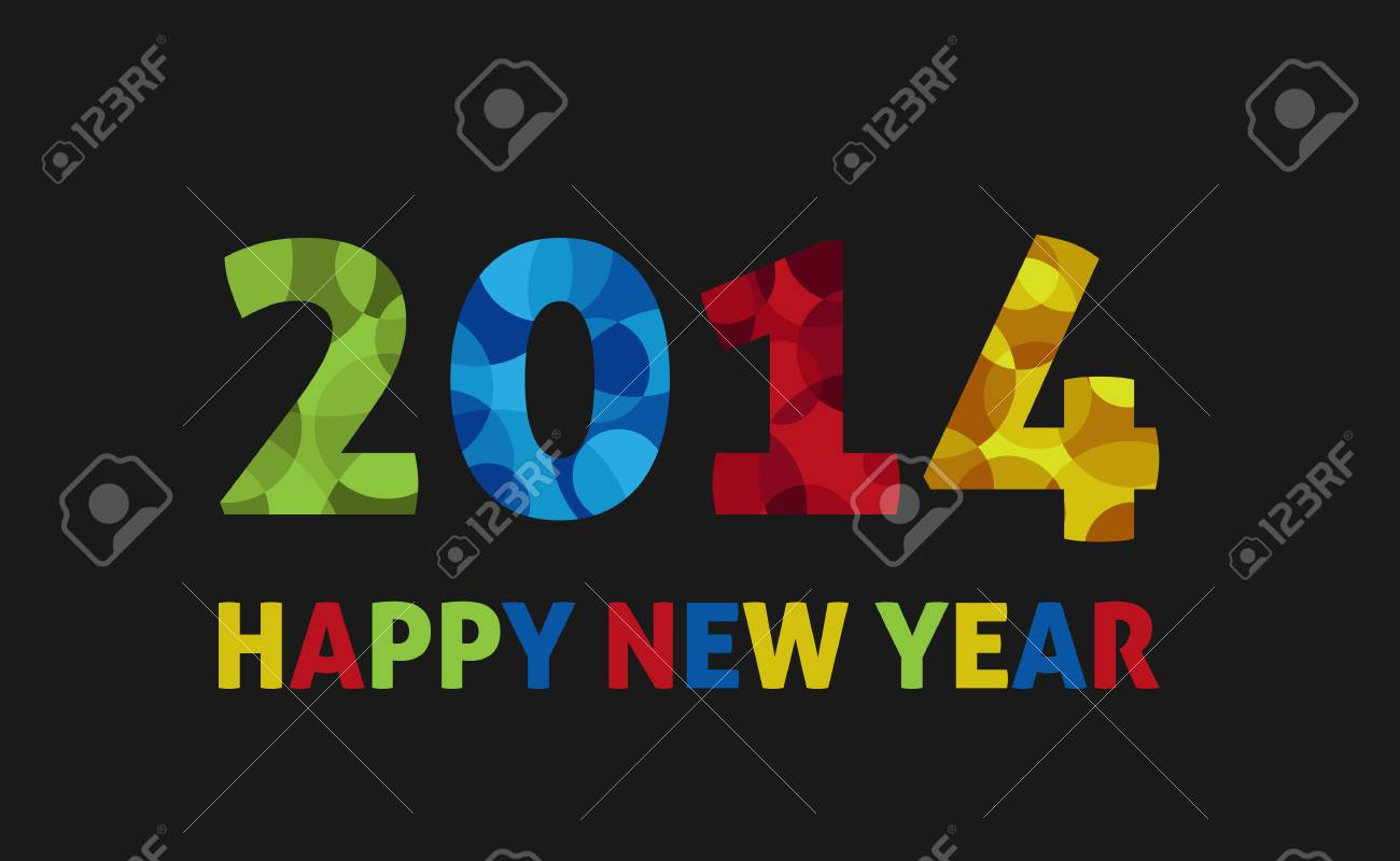 Happy new year 2014 greeting card royalty free cliparts vectors happy new year 2014 greeting card stock vector 23080933 m4hsunfo