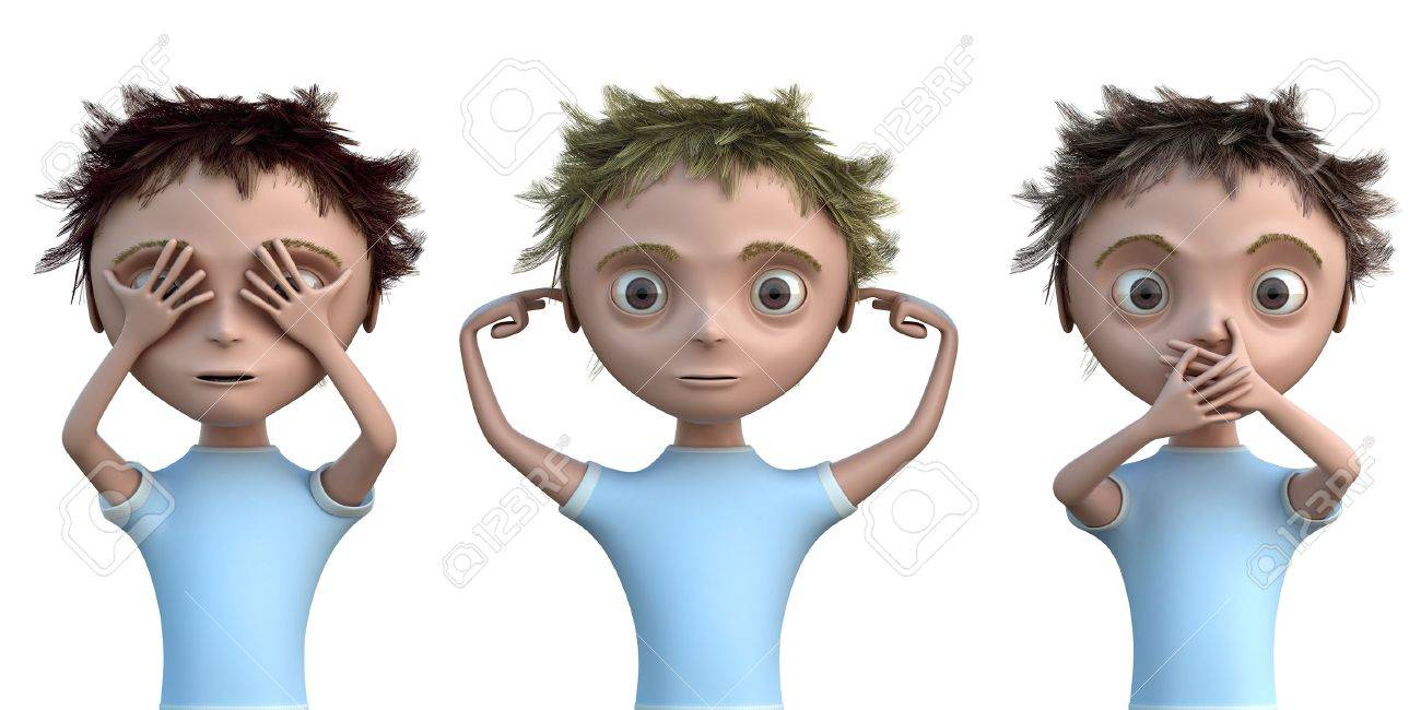 Hear, see and speak no evil Stock Photo - 11513129
