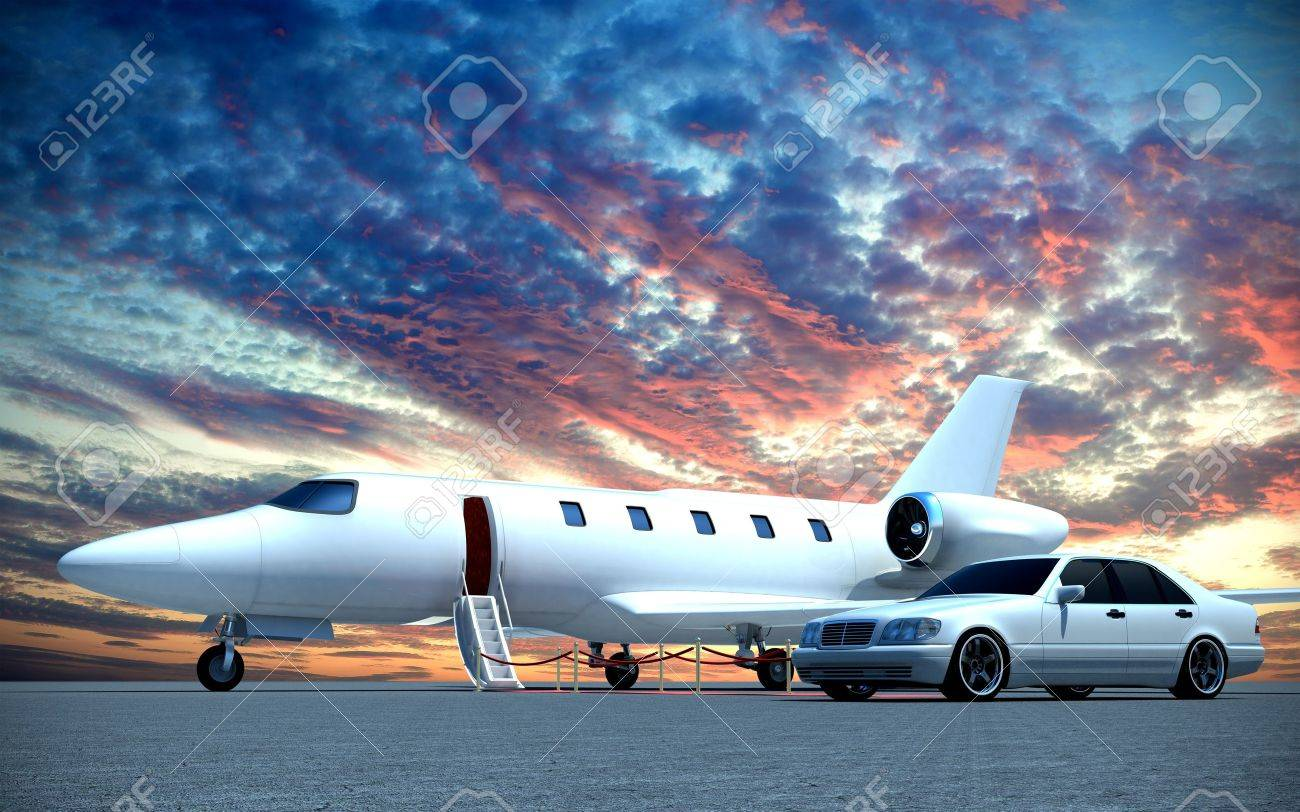 Plane And Car Stock Photo Picture And Royalty Free Image Image