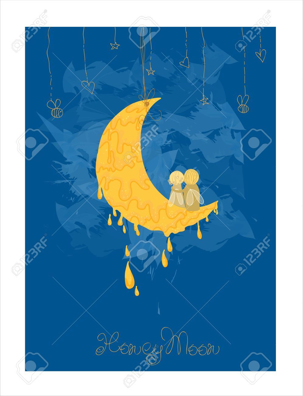 Cute Honeymoon Postcard in vector Stock Vector - 9141412