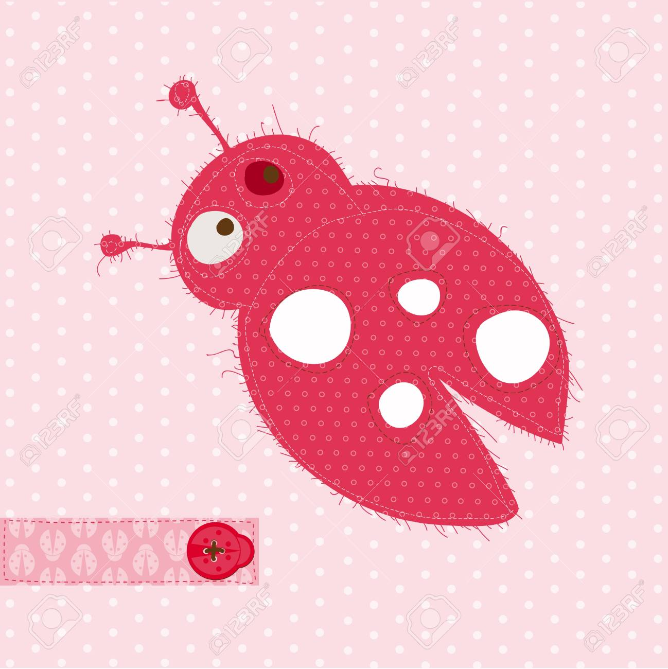Greeting card with ladybug for scrapbook invitation celebration greeting card with ladybug for scrapbook invitation celebration with place for your text stopboris Image collections