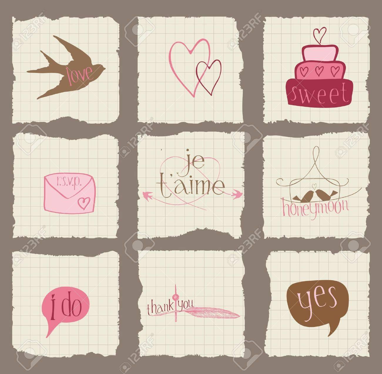 12x12 wedding scrapbook paper - Paper Love And Wedding Design Elements For Invitation Scrapbook Paper Love And Wedding Design Elements For