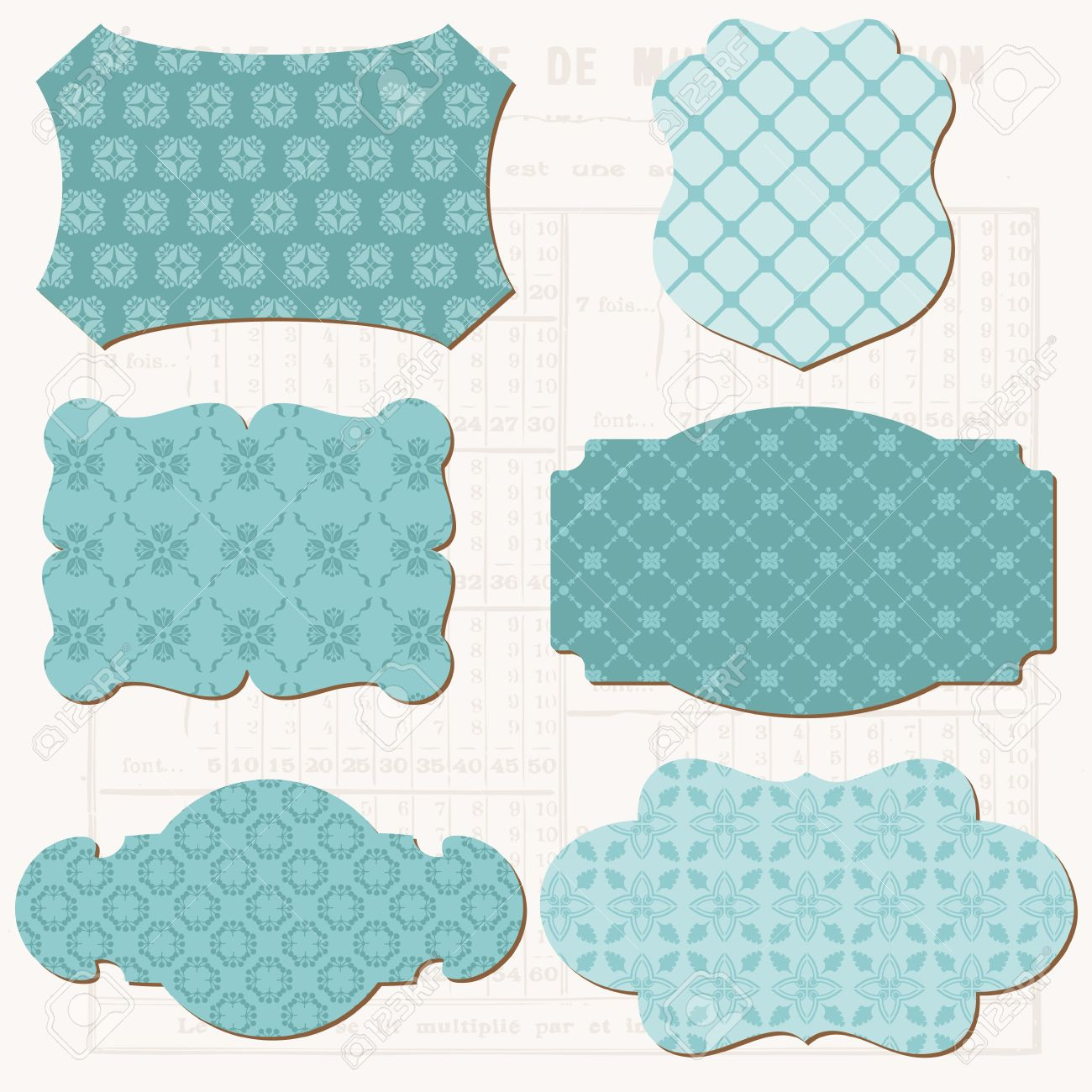 vector vintage design elements for scrapbook old tags and frames