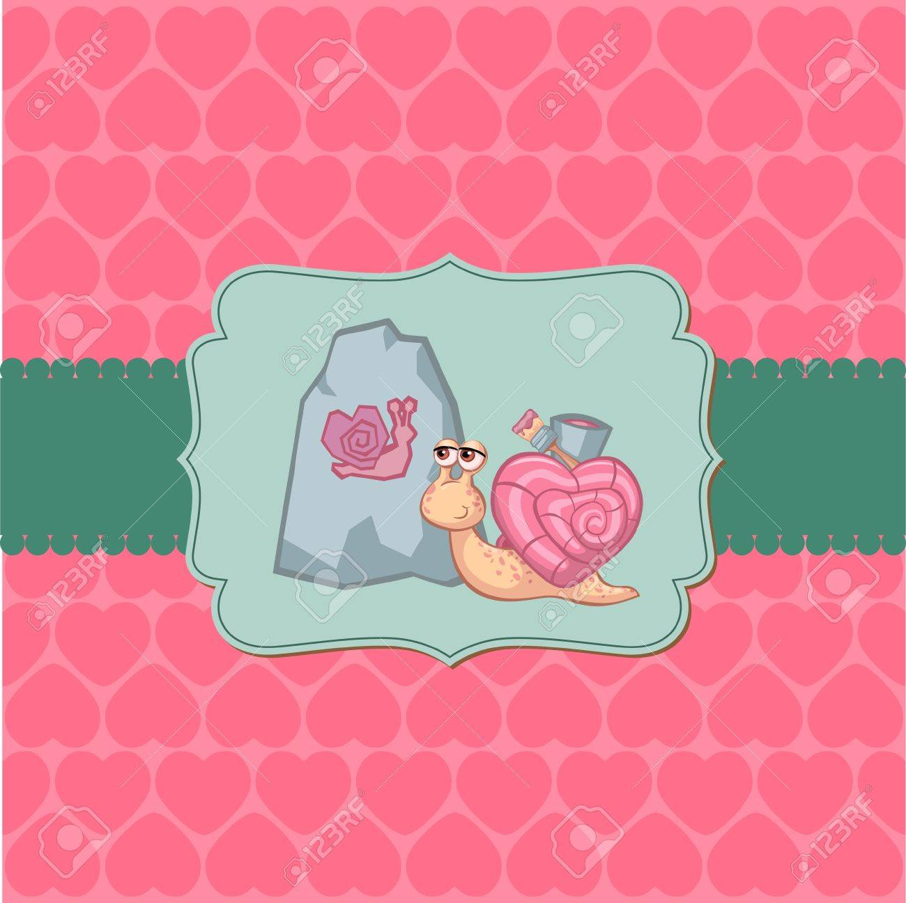 Cute Love Card - for Valentine's day, scrapbooking Stock Vector - 11975040