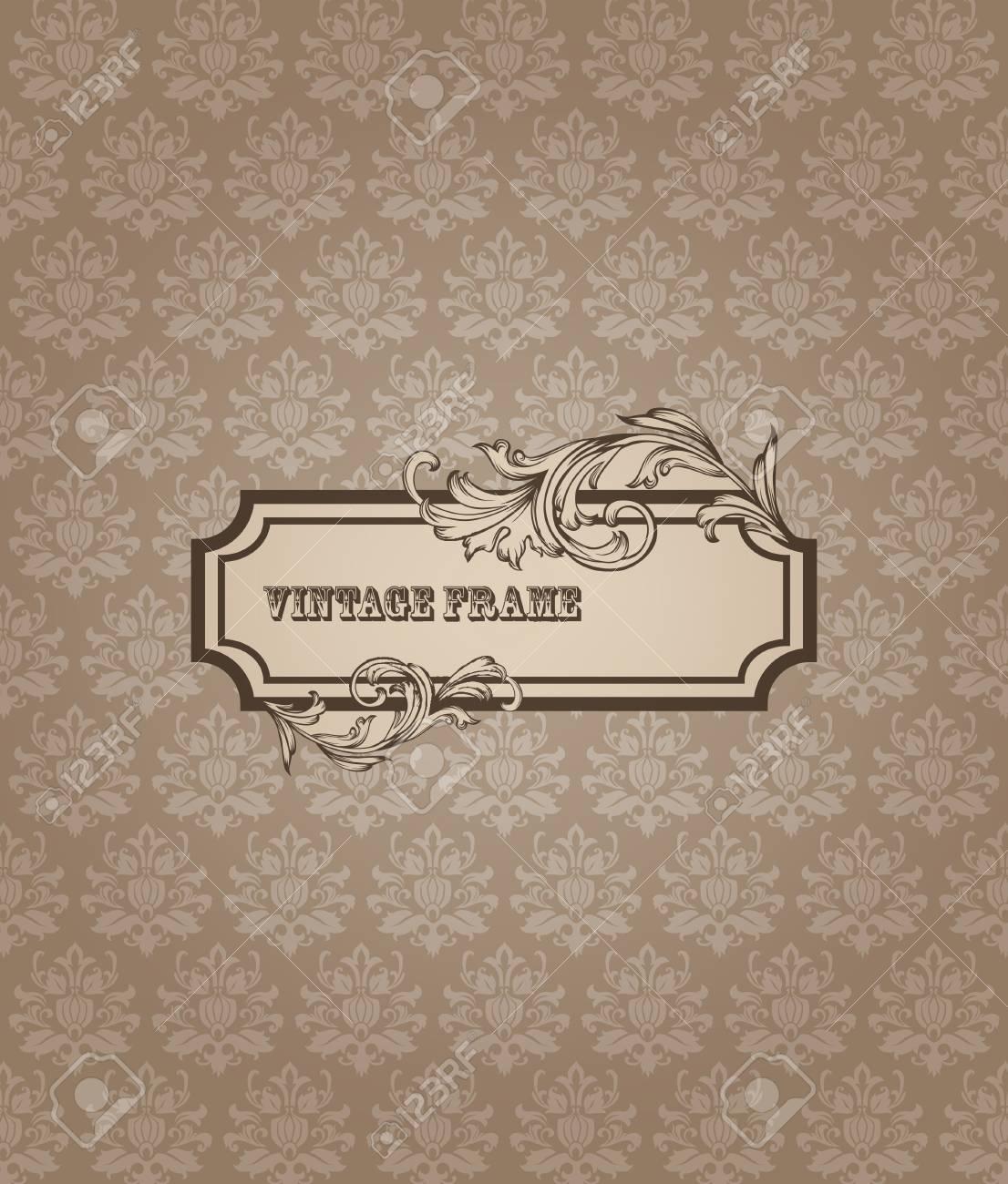 Schone Retro Karte Fur Einladung Grusse Gluckwunsche Hochzeit