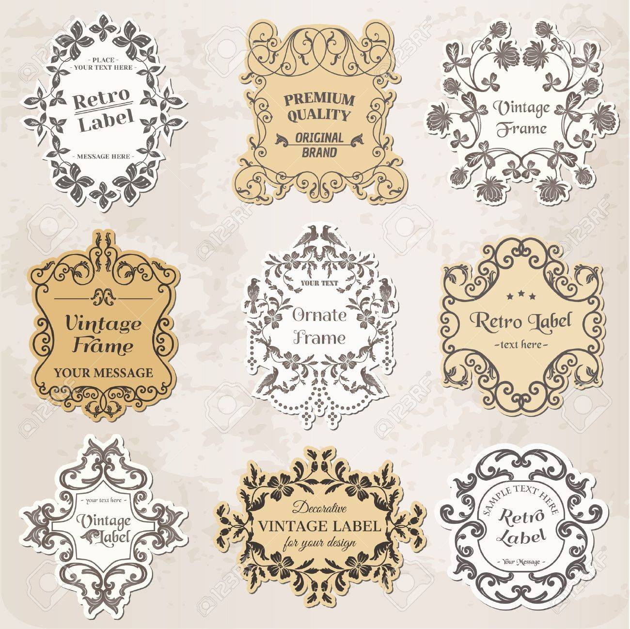Vintage Frames, Calligraphic Design Elements and Page Decoration Stock Vector - 14269221