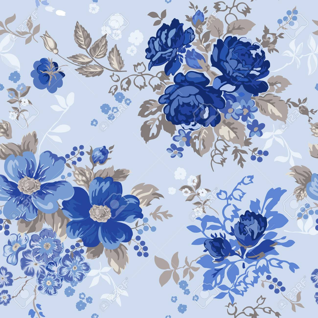 Vintage Floral Background Seamless Pattern For Design And