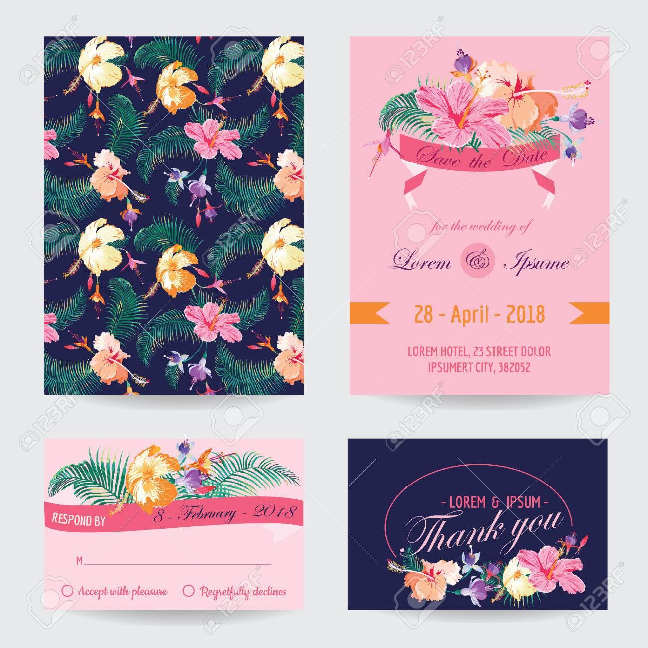 Einladung / Glückwunsch Karte Set   Für Hochzeit, Baby Dusche   In Vektor