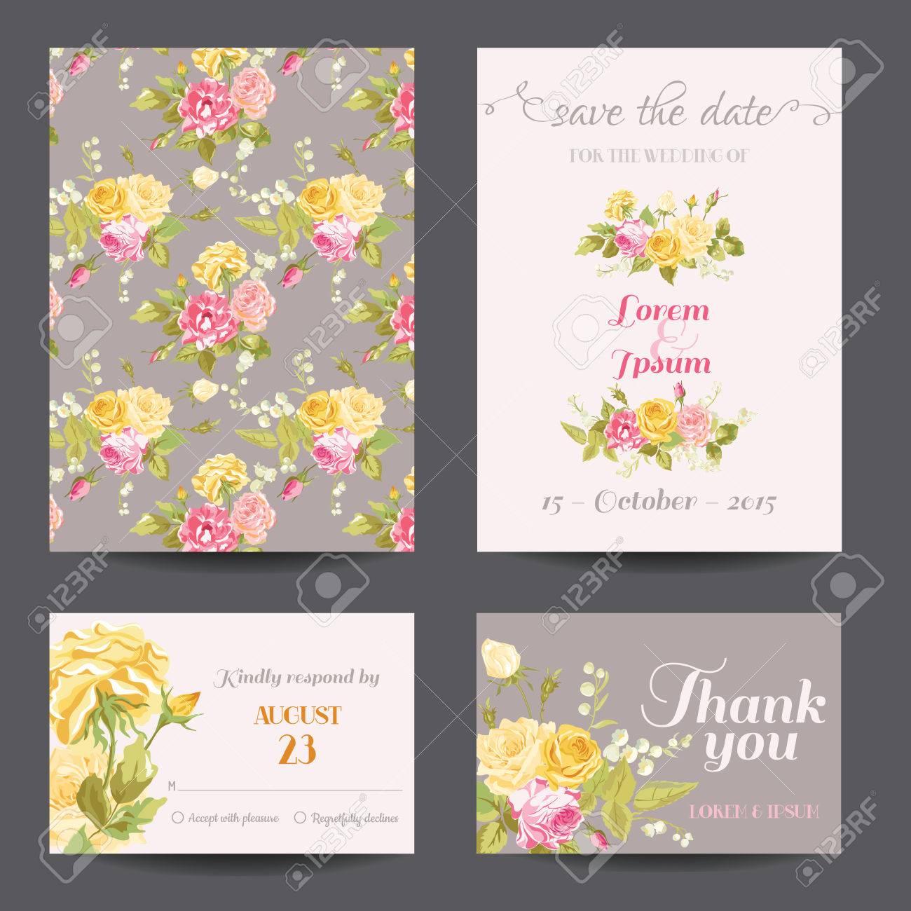 Einladung Blumen Karten Set   Sparen Sie Das Datum   Für Hochzeit, Baby