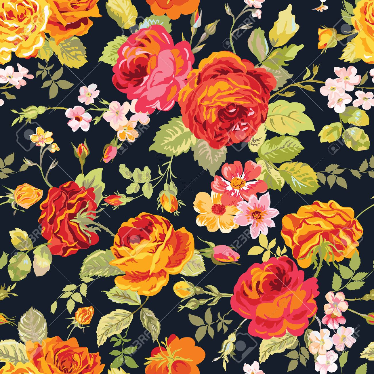 Vintage Floral Background , seamless pattern for design, print,..
