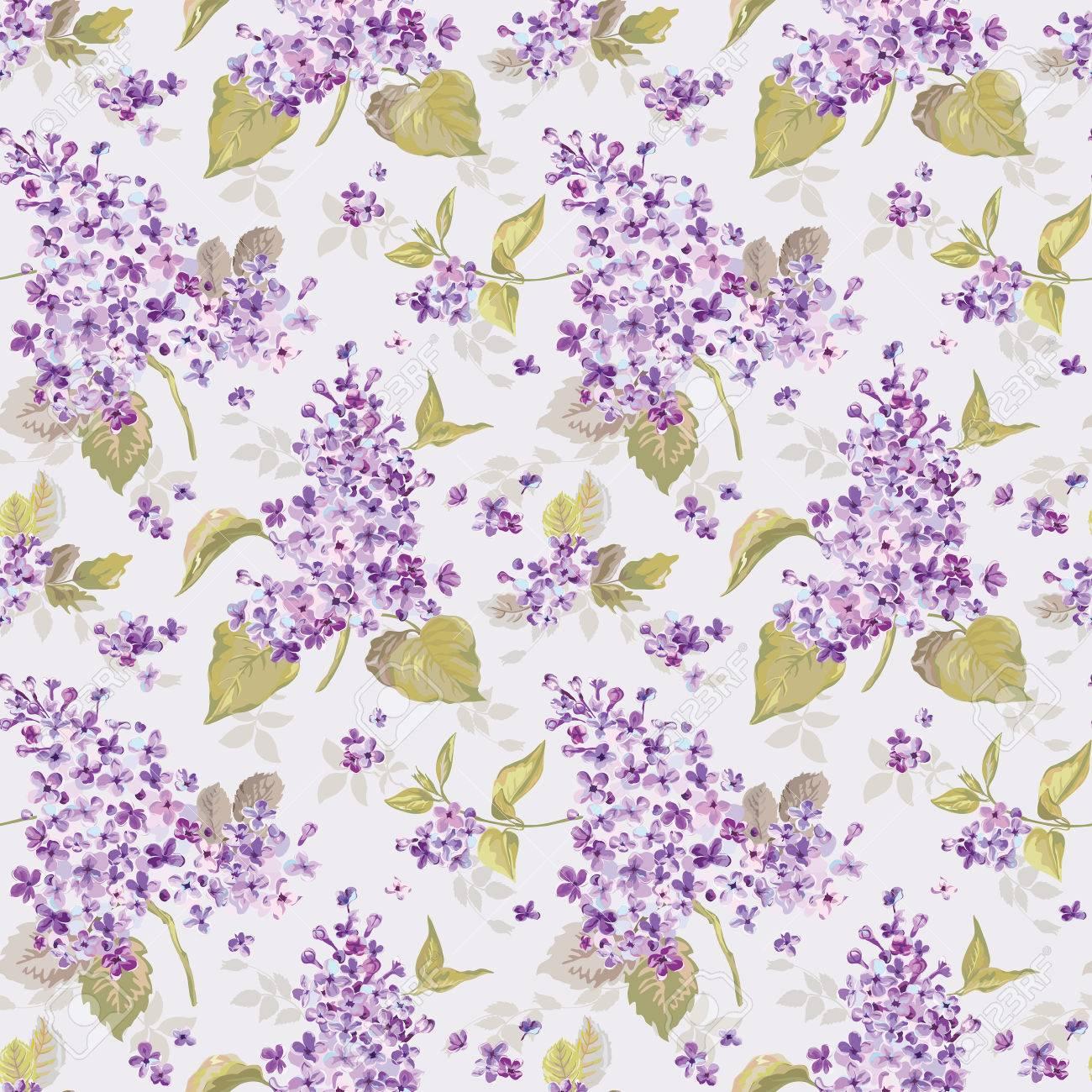Vintage Floral Print Vintage Floral Lilac Background Seamless Pattern For Design
