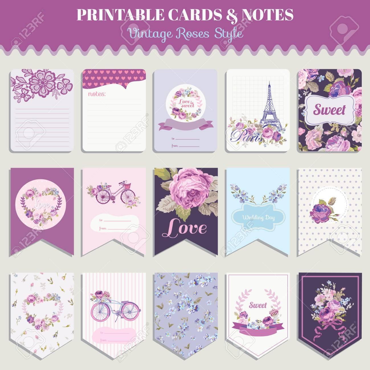 Vintage Blumen Karten Set   Für Geburtstag, Hochzeit, Baby Dusche,