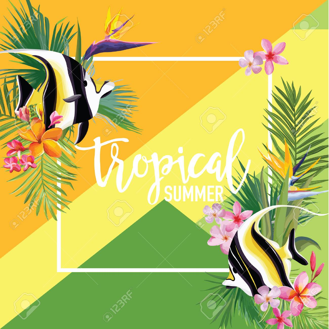 Vinyl Banner Sign Tropical Fish #1 Style A Fishes Outdoor Marketing Advertising Blue One Banner 8 Grommets 48inx96in Multiple Sizes Available