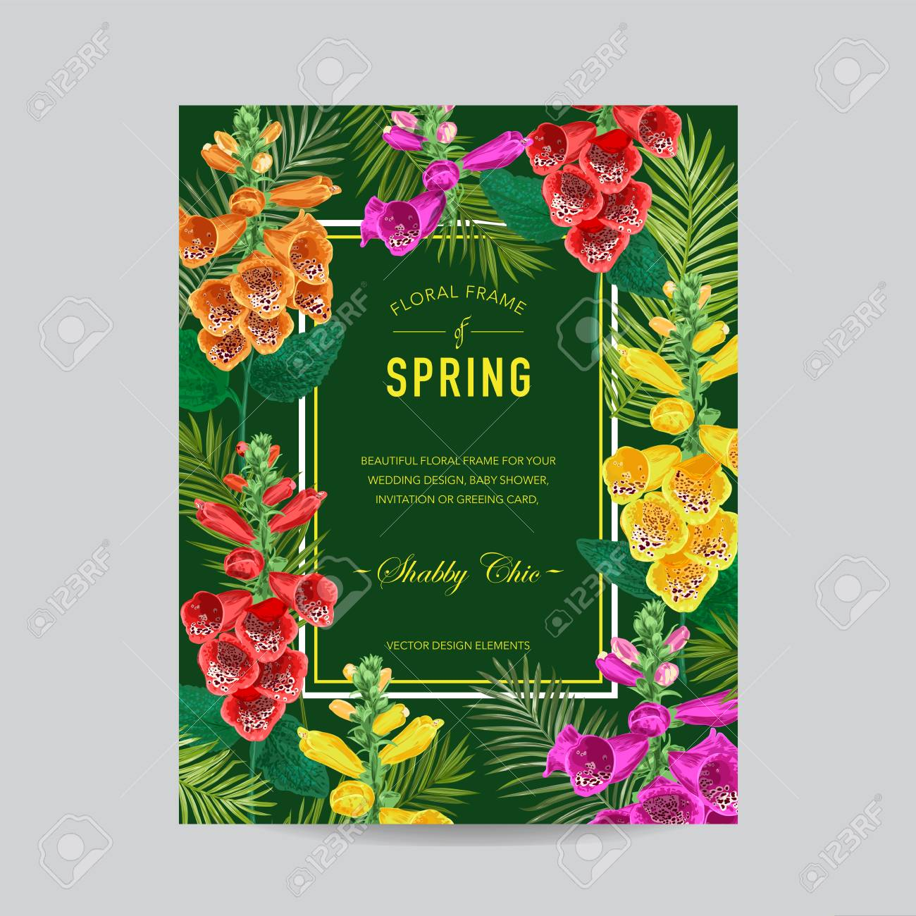 Wedding invitation template with tiger lily flowers tropical vector wedding invitation template with tiger lily flowers tropical floral save the date card exotic flower romantic design for greeting postcard izmirmasajfo